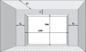 Гаражні ролетні ворота установка