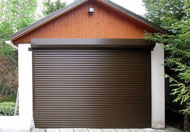 Уличные роллеты для гаража с экструдированным профилем фото
